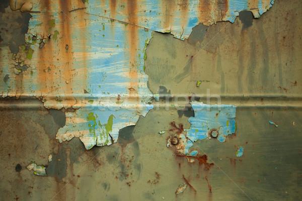 Metaal muur corrosie oude Stockfoto © dmitroza