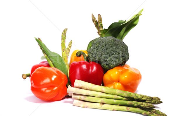 Maduro legumes fresco isolado branco Foto stock © dmitroza