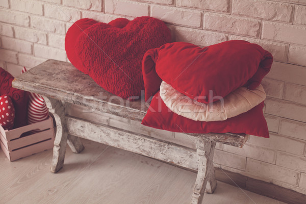 Cute mooie hout bank dozen Stockfoto © dmitroza