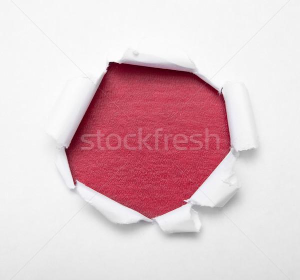 дыра бумаги белый цвета пусто внутри Сток-фото © dmitroza