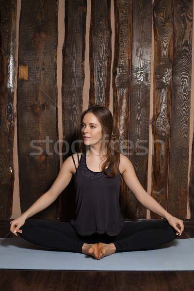 Woman is in a simple pose Stock photo © dmitroza