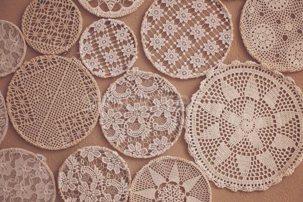 Knitting laces of all sizes Stock photo © dmitroza