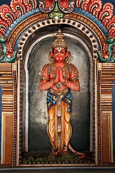 Hanuman statue in Hindu Temple. Sri Ranganathaswamy Temple. Tiru Stock photo © dmitry_rukhlenko