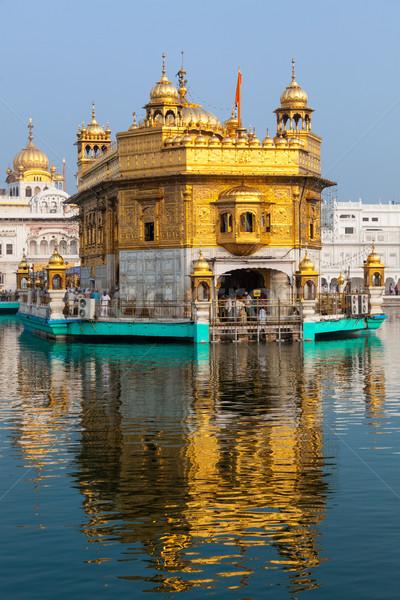 Foto stock: Dourado · templo · sikh · piscina · arquitetura · tanque