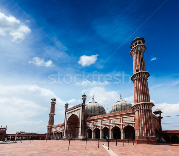 Jama Masjid - largest muslim mosque in India. Delhi, India Stock photo © dmitry_rukhlenko