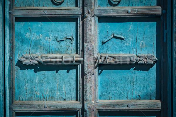 Latch with padlock on door in India Stock photo © dmitry_rukhlenko
