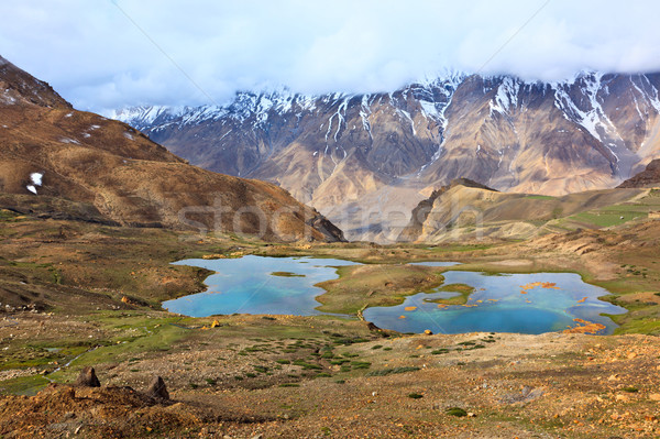Berg himalayas vallei natuur landschap Stockfoto © dmitry_rukhlenko