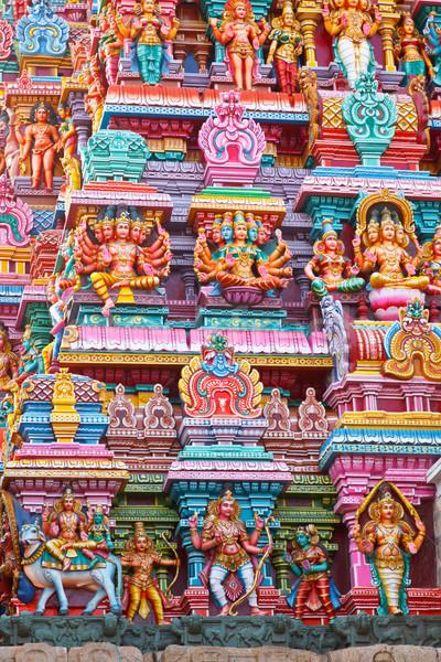 Photo stock: Temple · tour · pierre · dieu · asian · sculpture