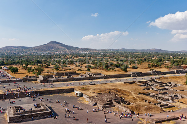 Valley of the Dead. Teotihuacan, Mexico Stock photo © dmitry_rukhlenko