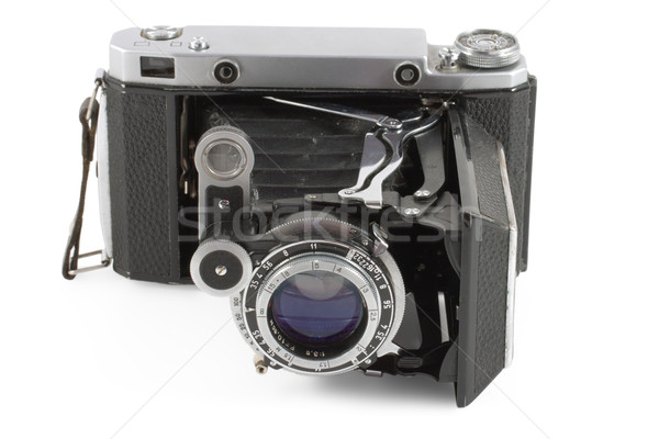 Old folding camera Stock photo © dmitry_rukhlenko