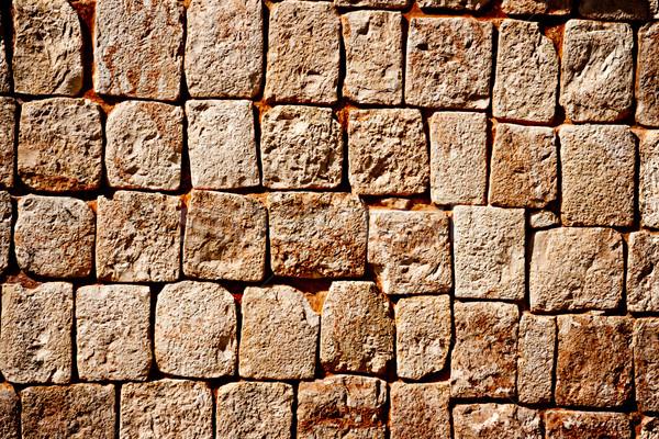 Stone wall of ancient Mayan pyramids in Uxmal, Mexico Stock photo © dmitry_rukhlenko