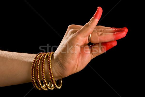 Bana hasta of indian dance Bharata Natyam Stock photo © dmitry_rukhlenko