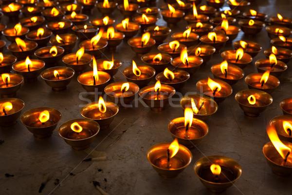 égő gyertyák buddhista templom összetett Stock fotó © dmitry_rukhlenko