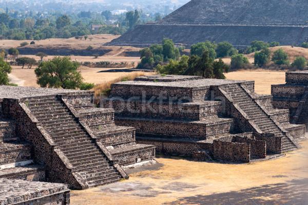 Pyramides Mexique vue pyramide lune montagne Photo stock © dmitry_rukhlenko