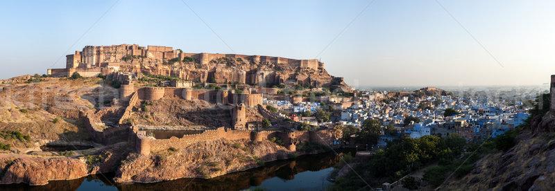 Stock fotó: Erőd · India · panoráma · város · utazás · indiai
