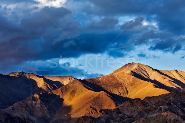 Himalayas mountains on sunset Stock photo © dmitry_rukhlenko