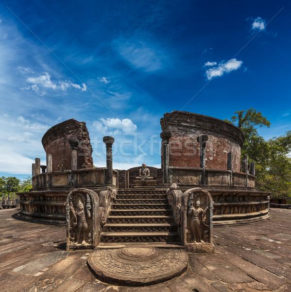 Ancient Vatadage (Buddhist stupa) Stock photo © dmitry_rukhlenko