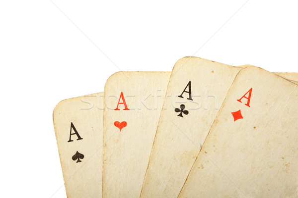 Four old cards close up Stock photo © dmitry_rukhlenko