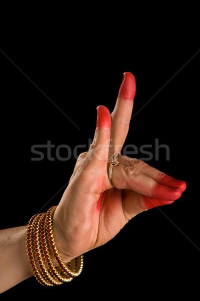 Indiano dançar mulher mão Foto stock © dmitry_rukhlenko