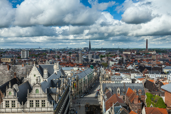 Aerial view of Ghent from Belfry. Ghent, Belgium Stock photo © dmitry_rukhlenko