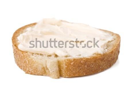 Stockfoto: Plakje · brood · kaas · room