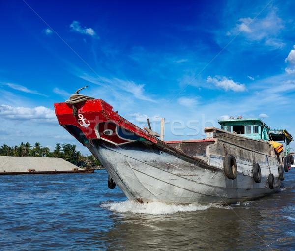 Barco rio delta Vietnã Foto stock © dmitry_rukhlenko