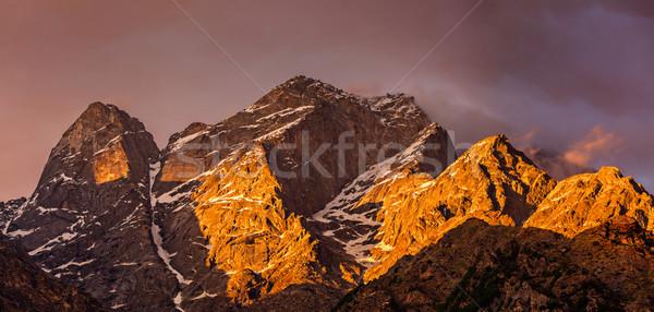 Himalaia montanhas pôr do sol céu natureza paisagem Foto stock © dmitry_rukhlenko