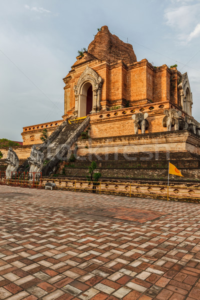 Wat Chedi Luang. Chiang Mai, Thailand Stock photo © dmitry_rukhlenko