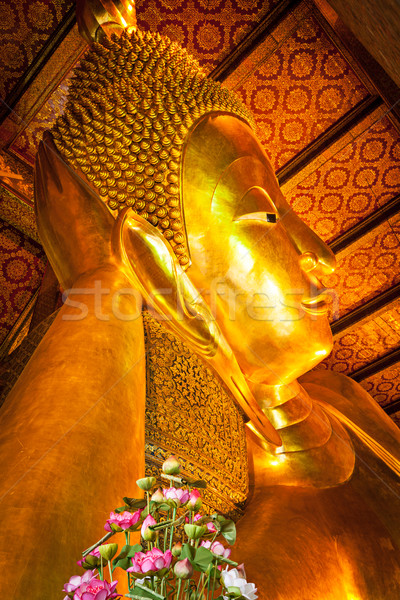 Reclining Buddha face Stock photo © dmitry_rukhlenko