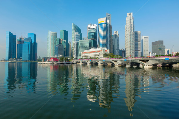 Singapour gratte-ciel quartier des affaires marina eau ville Photo stock © dmitry_rukhlenko