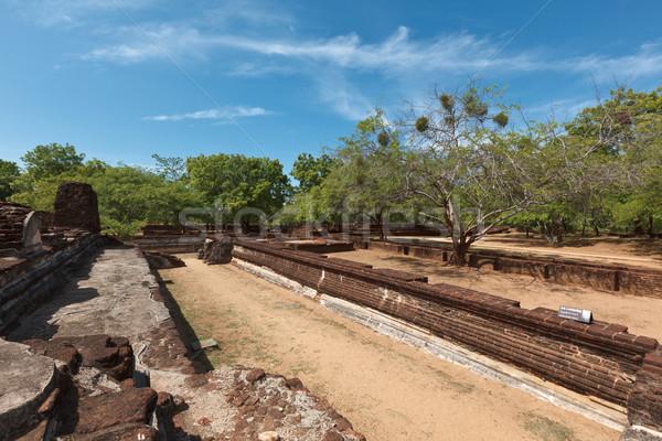 Királyi palota romok ősi Sri Lanka tájkép Stock fotó © dmitry_rukhlenko