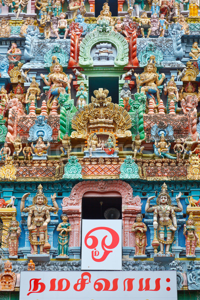 Templo torre Índia texto mantra adorar Foto stock © dmitry_rukhlenko