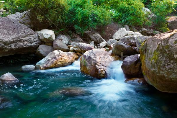 Cachoeira pequeno água natureza pedra rochas Foto stock © dmitry_rukhlenko
