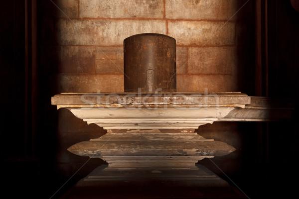 Shiva tapınak taş Tanrı din görüntü Stok fotoğraf © dmitry_rukhlenko