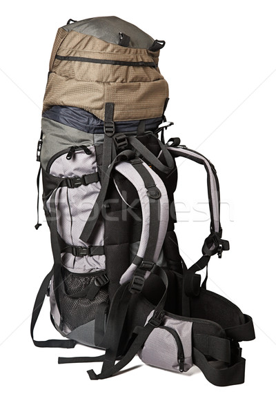Photo stock: Trekking · sac · à · dos · isolé · sac · à · dos · blanche