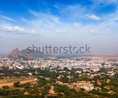 Heilig stad Indië luchtfoto tempel hemel Stockfoto © dmitry_rukhlenko