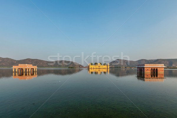 Jal Mahal (Water Palace).  Jaipur, Rajasthan, India Stock photo © dmitry_rukhlenko