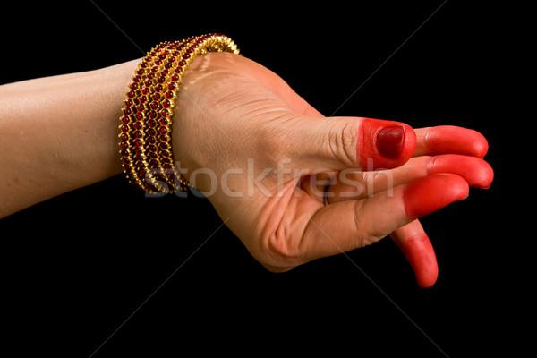 Indiano dançar mulher mão clássico Foto stock © dmitry_rukhlenko