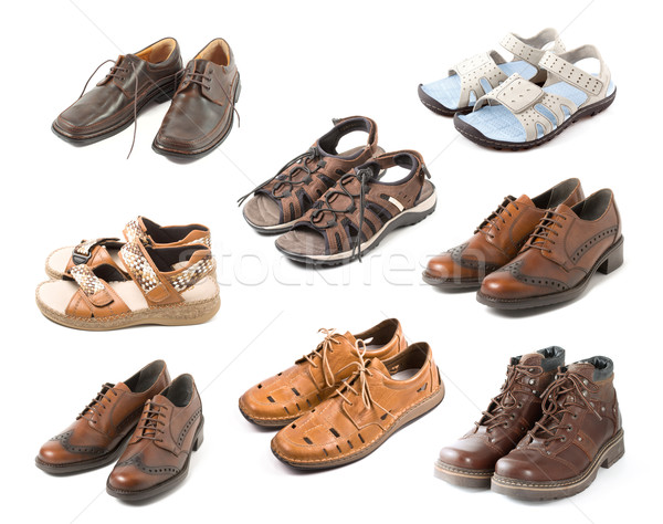 Various shoes isolated on white  Stock photo © dmitry_rukhlenko