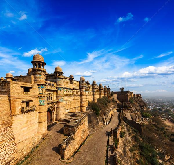 форт Индия туристическая достопримечательность архитектура небе природы Сток-фото © dmitry_rukhlenko