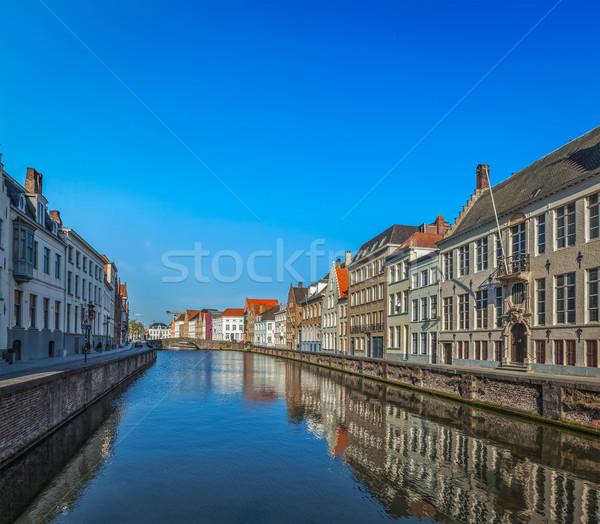 Bélgica canal medieval casas casa río Foto stock © dmitry_rukhlenko
