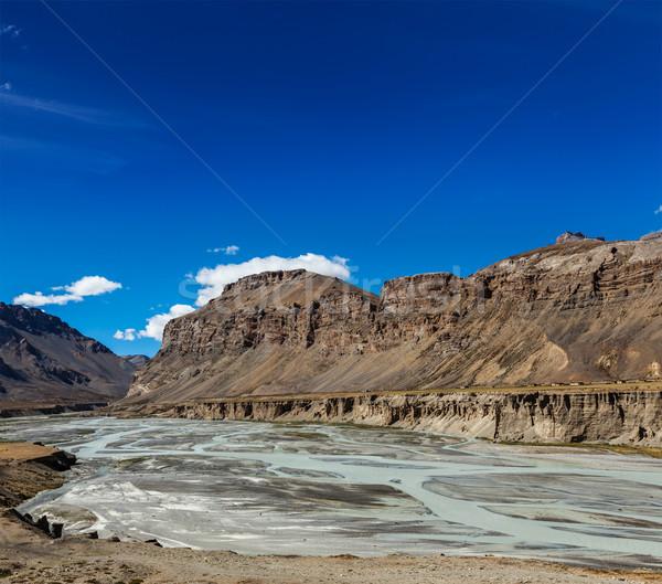 Himalaia paisagem estrada água montanha rodovia Foto stock © dmitry_rukhlenko