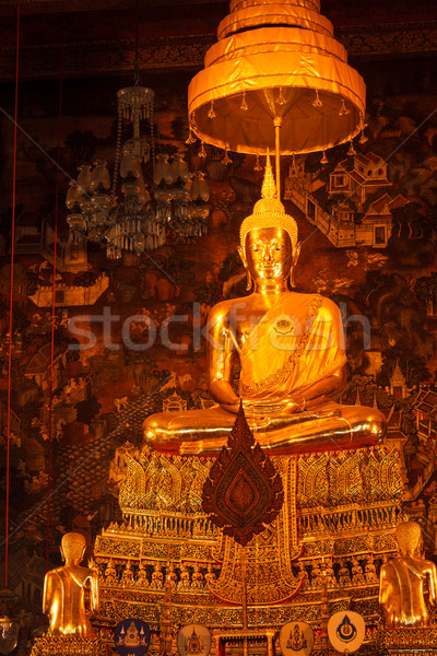 Sitting Buddha statue, Thailand Stock photo © dmitry_rukhlenko
