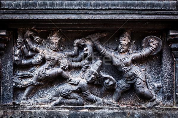Bas relief. Brihadishwara Temple, Tanjore Stock photo © dmitry_rukhlenko