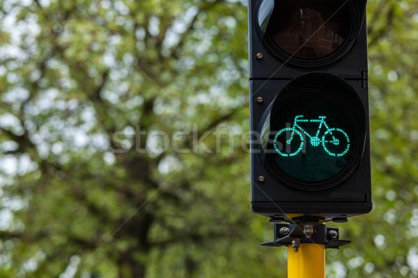 Сток-фото: велосипед · светофора · Европа · экологический · транспорт