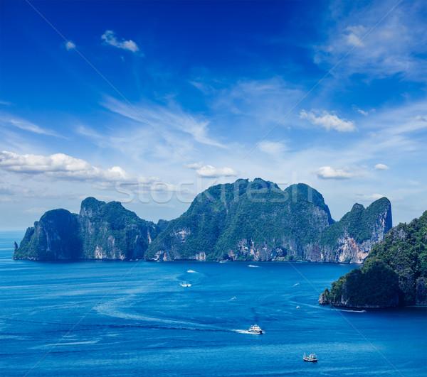 Ilha mar krabi Tailândia céu Foto stock © dmitry_rukhlenko