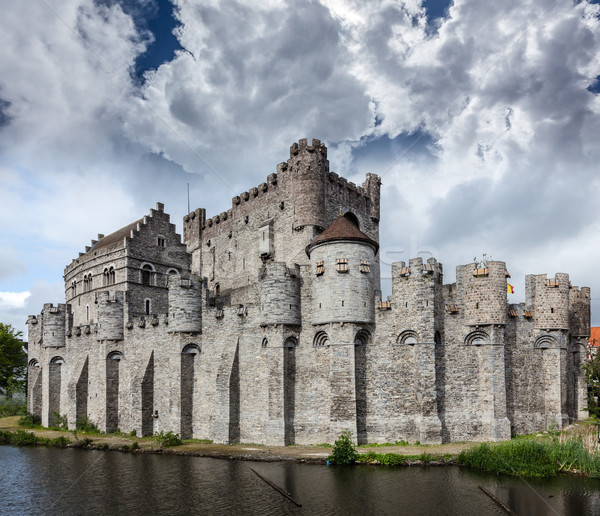 Gravensteen Castle in Ghent Stock photo © dmitry_rukhlenko