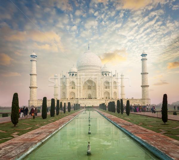 Taj Mahal sunrise tramonto India indian simbolo Foto d'archivio © dmitry_rukhlenko