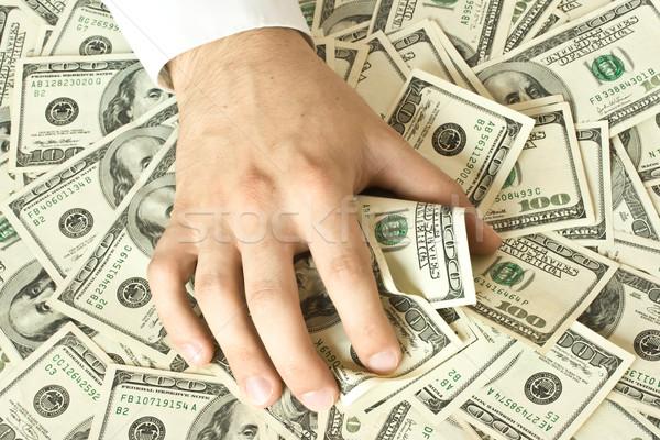 Hebzuchtig hand geld papier persoon vinger Stockfoto © dmitry_rukhlenko