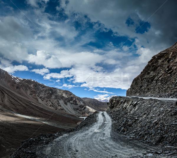 Dirt road in Himalayas. Stock photo © dmitry_rukhlenko